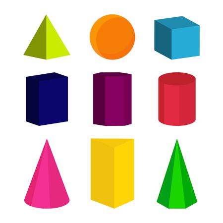 Geometrische Formen färben. Designikone der Vektorillustration
