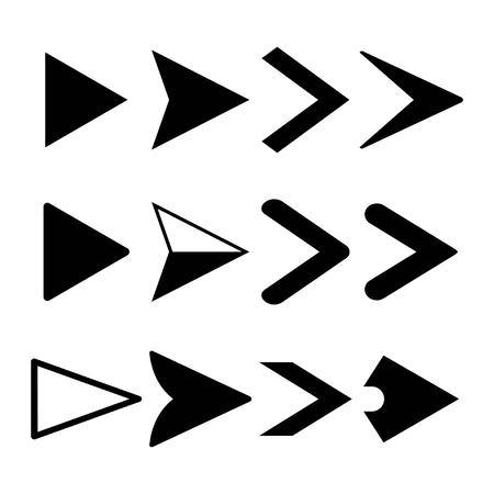 Arrow icons set, pointers logo vector design