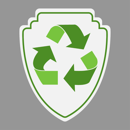 Green recycle guard icon design vector illustration Çizim