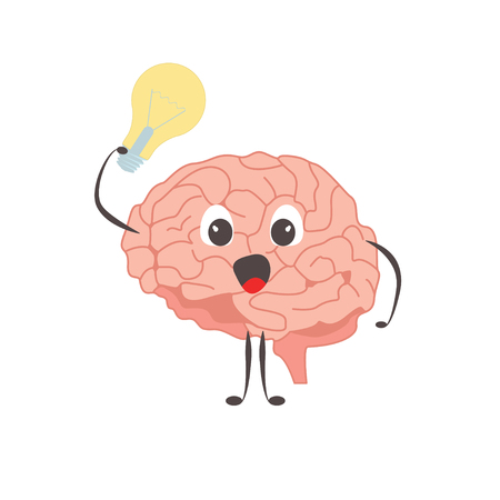 Brain charactersathlete idea exercises and different activities vector
