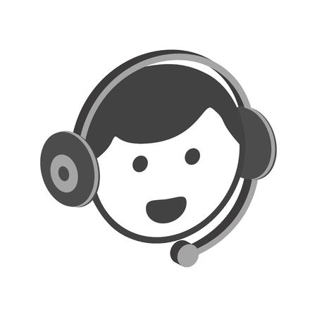 Support service icon vector Customer Female Online Person Profile illustration