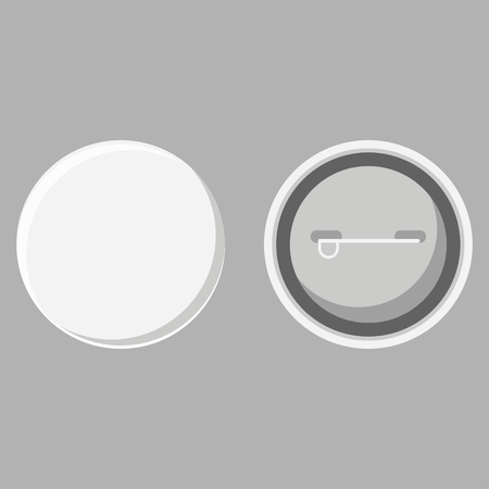 Blank button badge front and back view vector 矢量图像