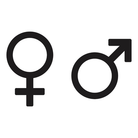 Male and female icon vector design isolated