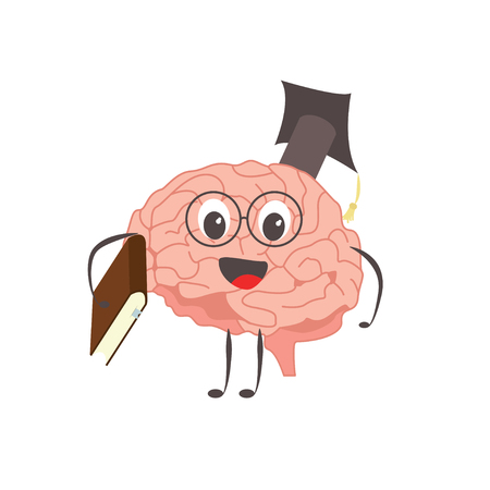 Brain charactersathlete learning knowledge exercises and different activities