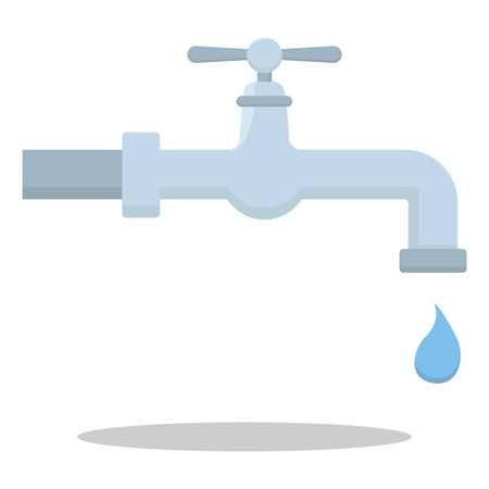 Water tap with drop design illustration vector icon