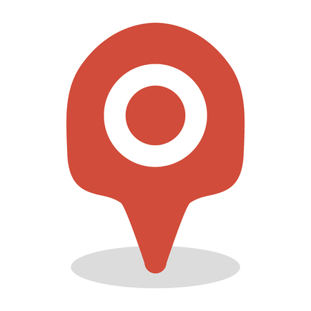 Map location icon, GPS travel marker vector design