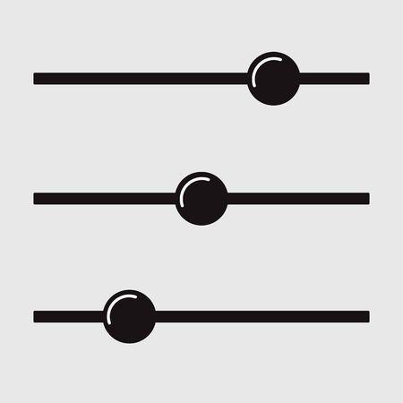 Adjustment button icon. Filter control. Balance Multimedia Vector Illustration