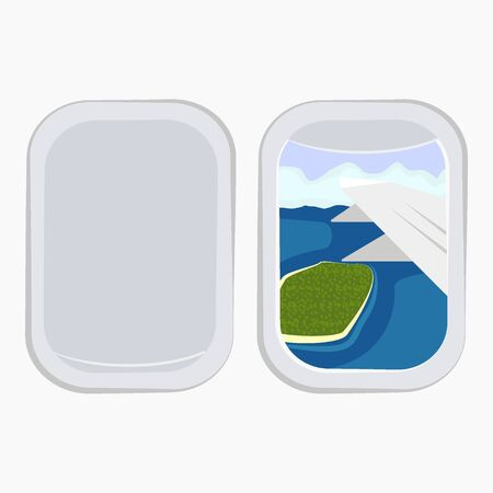 Aircraft Windows,airplane windows,window of airplane vector illustration