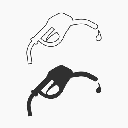 Fuel icon. Black illustration isolated for graphic design