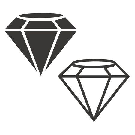 Diamond outline icons set vector design illustration