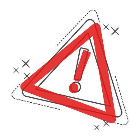 Danger cartoon icon. Attention caution sign vector