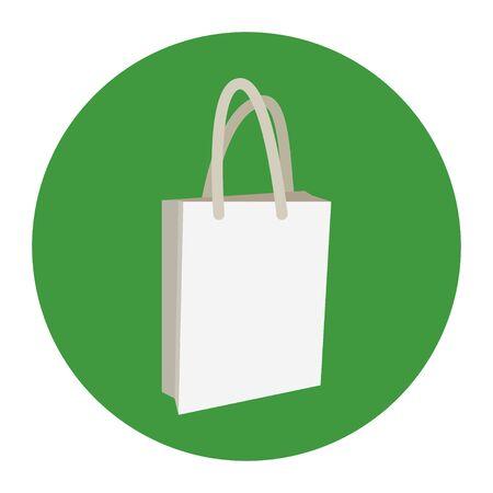 Eco bag icon. Shopping sign vector market