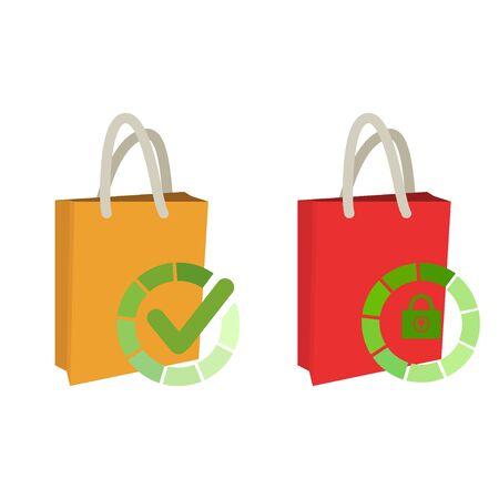 Check shopping bag icon Idea for Web Applications