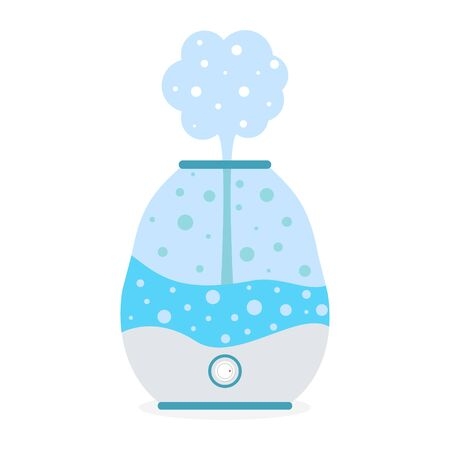 Humidifier air with steam icon. Purifier microclimate, healthy humidity