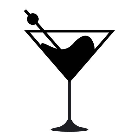 glass cup icon. Symbol beverage cocktail vector design illustration