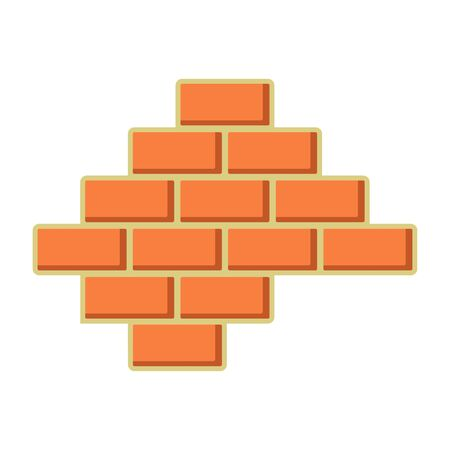 Brick wall icon. Build and repair symbol vector