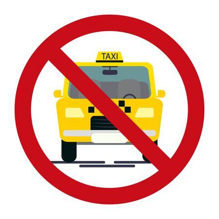 No parking sing taxi design vector car