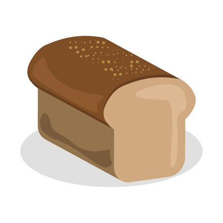Bread vector icon bakery nutrition vector illustration design