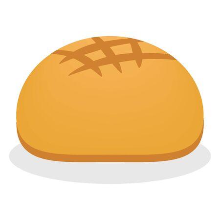 Bread icon bakery nutrition vector illustration design