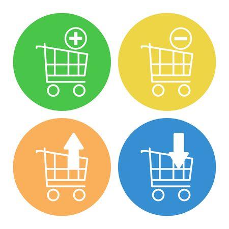 Set of shopping carts icons vector illustration design Illustration
