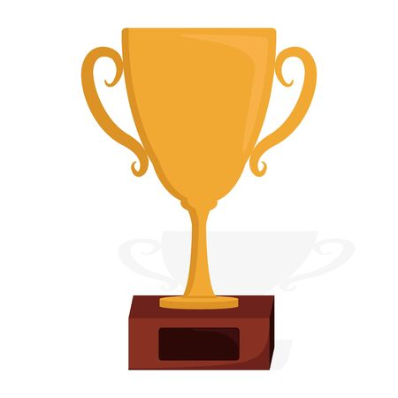 Golden trophy icon vector illustration design isolated
