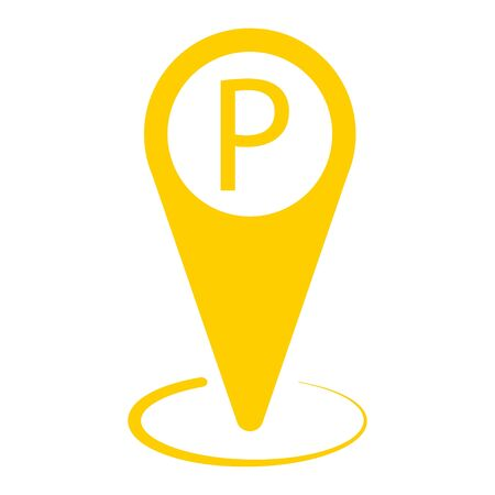 Map pin taxi parking vector illustration design on white