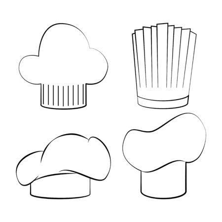 Chef hats icon set vector illustration design Illustration