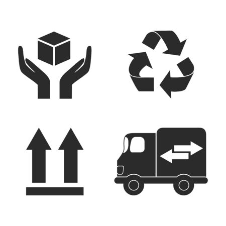 Delivery icon set vector illustration design isolated on white Illustration