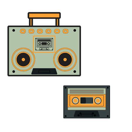 Radio icon Cassette tape vector illustration design on white