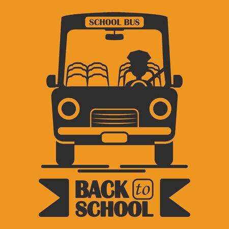 School bus icon. Back to school desing vector illustration design