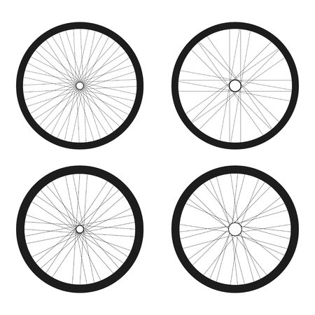 Bicycle tires set vector illustration design isolated