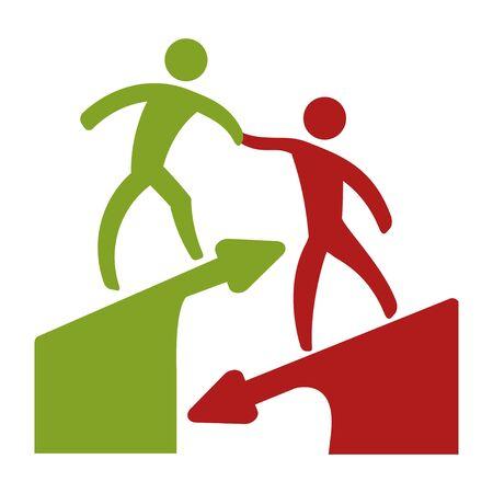 Man help icon vector illustration design isolated