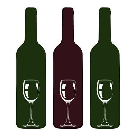 Wine design. Bottle with glass inside icon vector illustration design