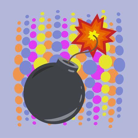 Boom bomb icon vector illustration design isolated