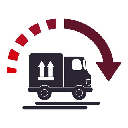 Delivery with arrow icon vector illustration design Çizim