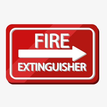 Fire extinguisher label vector illustration design isolated icon sign Illustration