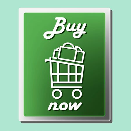 Buy now icon. Shopping design ivector illustration isolated