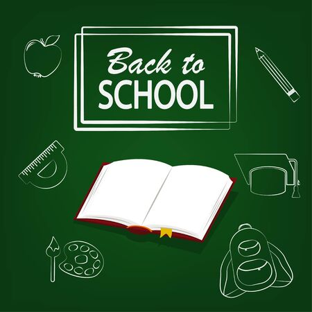 Back to school design vector illustration isolated