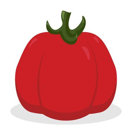 Tomato icon vegetable organic eco design illustration