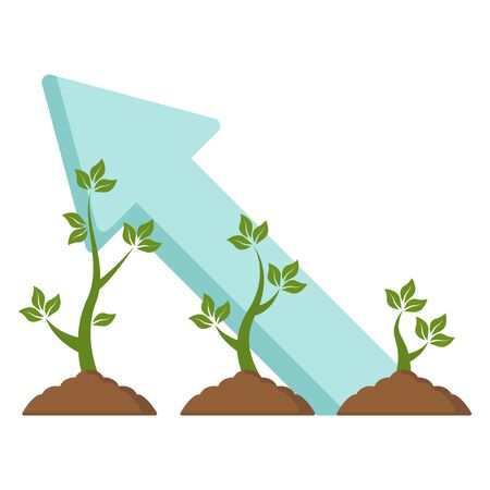 Green sprout growth icon vector illustration design isolated