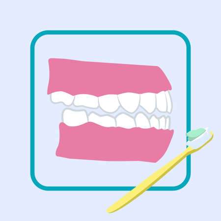 Dental care, clear teeth icon vector illustration design