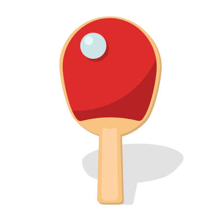 Table tennis racket with ball icon vector illustration design Çizim