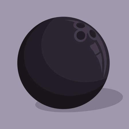 Bowling ball sport icon vector illustration design