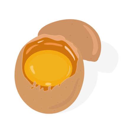 Brocken raw egg icon vector illustration design