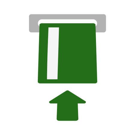 ATM using icon. Asynchronous transfer mode icon vector illustration design