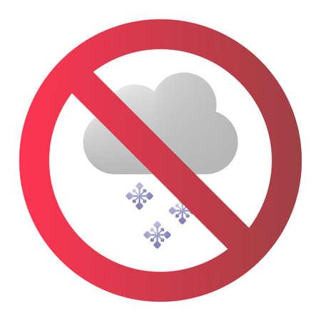 Snow cloud warning icon vector illustration design