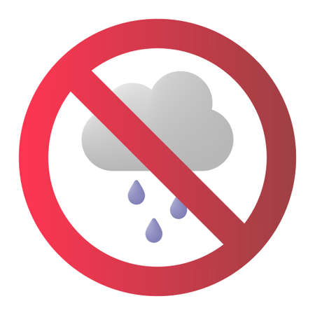 Rain cloud warning icon vector illustration design
