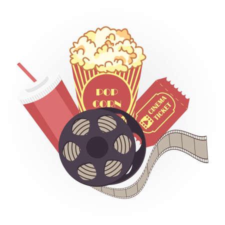 Cinema set icon design vector illustration isolated