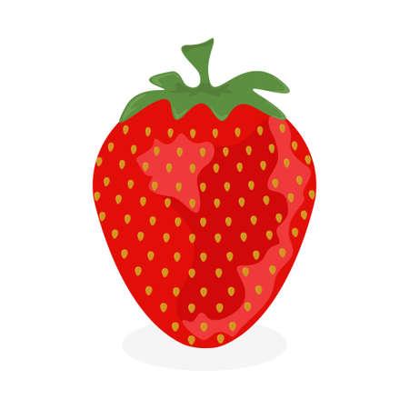 Strawberry icon. Fruit and organic food concept Çizim