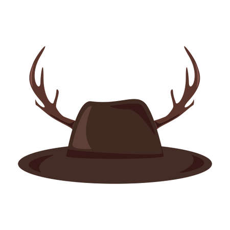 Hat with antlers icon. Hipster style concept